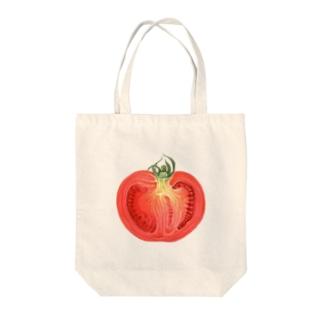 トマトの断面 Tote bags