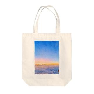富士山夜明け前 Tote bags