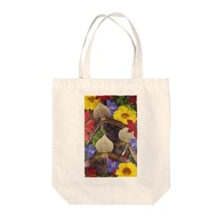 ホワイトブーケ オリジナル Tote bags