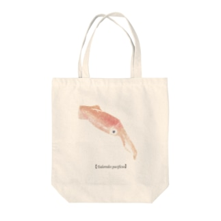 イカ Tote bags
