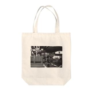 白黒渋谷 Tote bags