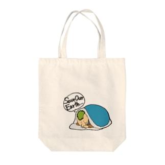 セイブァワアース Tote bags