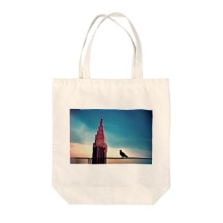 新宿の時計台  Tote bags