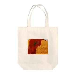 実写オムライス Tote bags