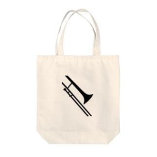 トロンボーンシルエット Tote bags