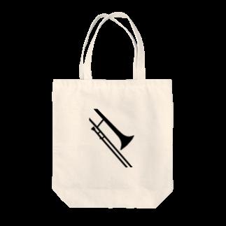 decoppaのトロンボーンシルエット Tote bags