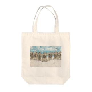 起立 Tote bags