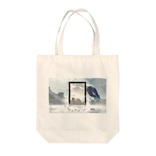 Time travel Tote bags
