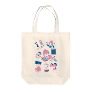 ニコニコ生放送記念期間限定デザイン~A柄~ Tote bags