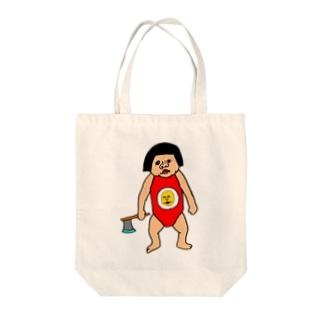 金太郎と見せかけて金太郎 Tote bags