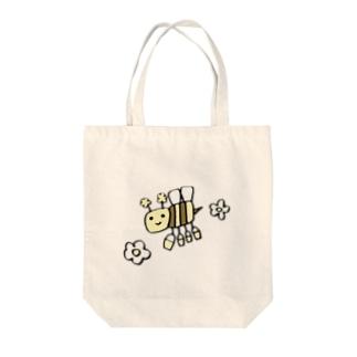 るんるんみつばち Tote bags