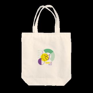 嵐山デザインの月吠えくんグッズ Tote bags