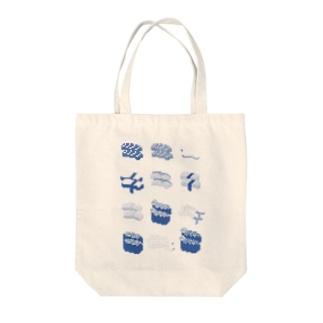 お寿司クン(一覧)青 Tote bags