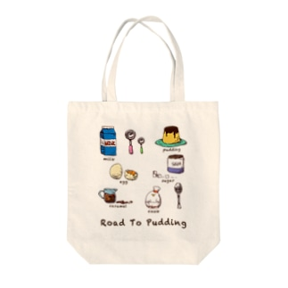 Road To Pudding Tote bags