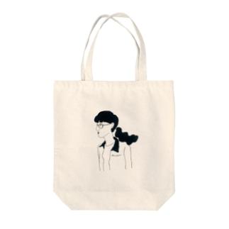 丸メガネ Tote bags