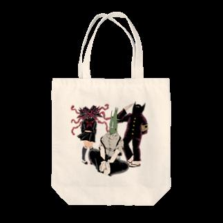 墓生まれのKの地球星怪人 番長組 Tote bags