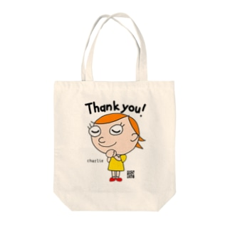 thankyou charlie  カラーver. Tote bags