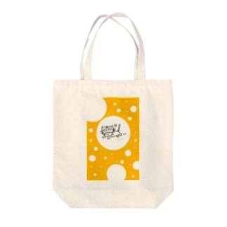 ましねこ!|お魚 de ゴキゲン☆(バナナイエロー) Tote bags