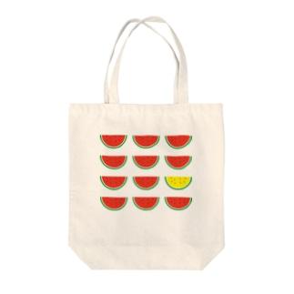 黄色いスイカ Tote bags