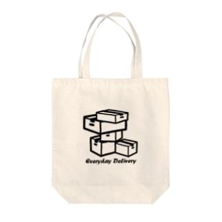 毎日デリバリー Tote bags