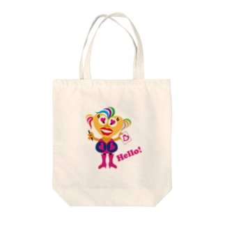 Hellow! ビザコだよん! Tote bags