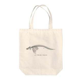 シャチ骨格(淡色下地用) Tote bags
