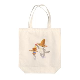 麦藁帽子をかぶった猫 これもあげる Tote bags