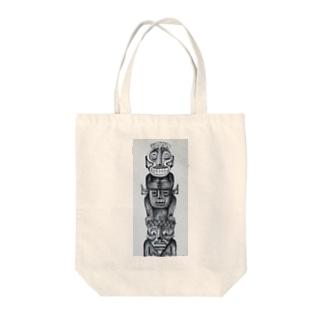 トーテムポール Tote bags