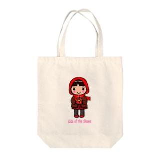 昭和キッズ 真知子巻きの少女 Tote bags