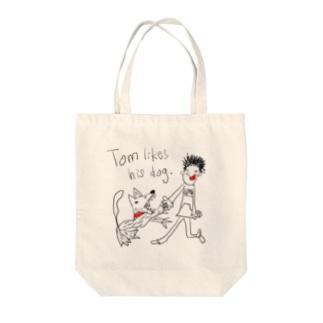 彼の犬 Tote bags