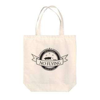 No Flying Penguin Tote bags