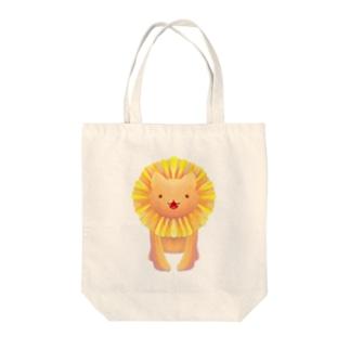 ダンデライオンライオン Tote bags
