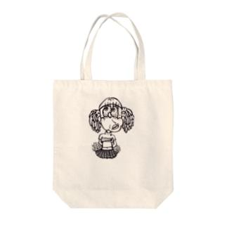チアガール Tote bags