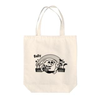 風船モンスター バリー(モノクロ) Tote bags