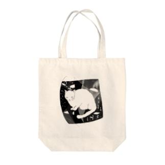 夢を見る猫 Tote bags