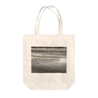 ダブル♡ハート Tote bags