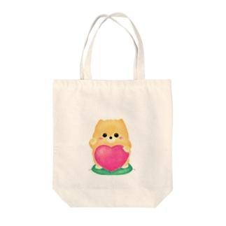 お招きポメラニアン Tote bags