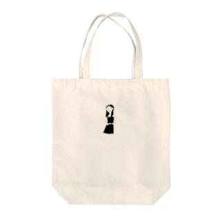 ビスチェとベレー Tote bags