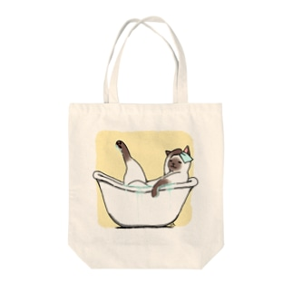 おふろシャム猫 Tote bags