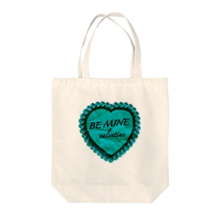 BE MINE valentine green Tote bags
