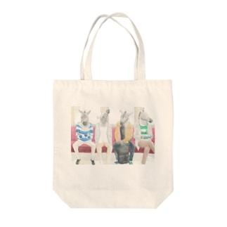 ボーダー×シマウマ Tote bags