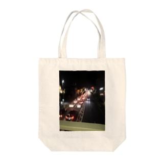 歩道橋からの景色 Tote bags