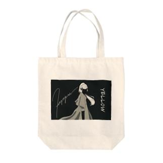 KAGEGUMA's SHOPのYELLOW  Tote bags