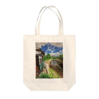 地元の風景 油彩 トートバッグ
