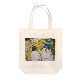 姉妹の絵画 油絵 Tote bags