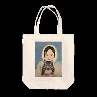 タコ夜勤@スタンプ制作致しますの少女のデザイン トートバッグ