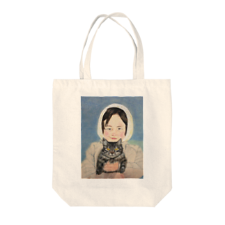 タコ夜勤@スタンプ制作致しますの少女のデザイン Tote bags