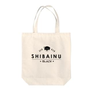 タバタ画房の柴犬(黒柴)ちびちゃん Tote bags