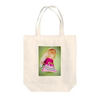 ポメキチ Tote bags