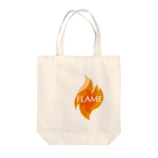 フレイム Tote bags